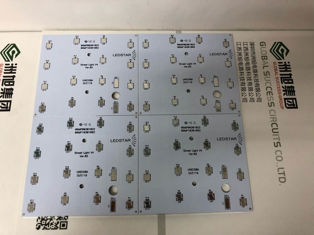 1 Layer Aluminum Based Pcb Board White Solder Aluminium Printed China Immersion Gold Circuit
