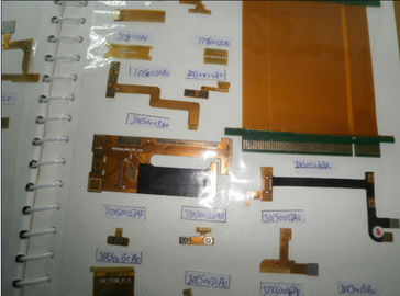 Yellow Inner FPC Flexible PCB Board With 3M Adhesive Polyimide 1.6MM Thickness